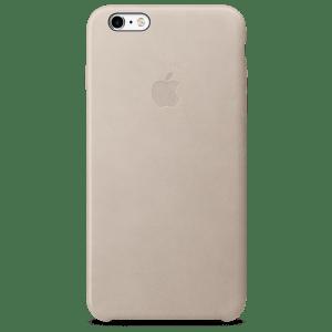 Телесный кожаный чехол для iPhone 7/7s Plus
