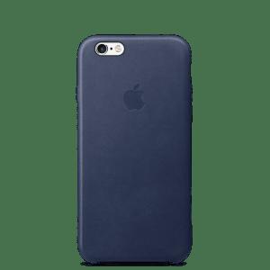 Тёмно-синий кожаный чехол для iPhone 7/7s