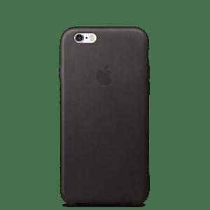 Чёрный кожаный чехол для iPhone 7/7s