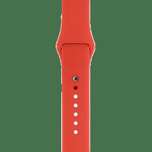Спортивный ремешок оранжевого цвета 38 мм
