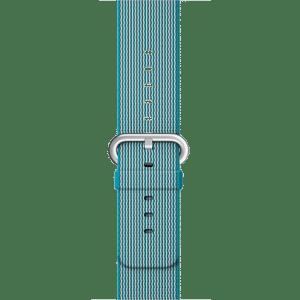 Ремешок из плетёного нейлона цвета «аквамарин», 38 мм