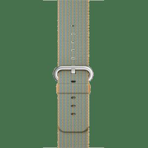 Ремешок из плетёного нейлона цвета «золотистый/кобальт», 38 мм