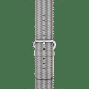 Ремешок из плетёного нейлона жемчужного цвета, 38 мм