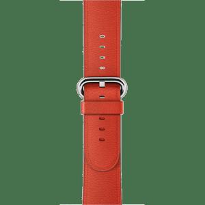 Ремешок красного цвета с классической пряжкой 38 мм