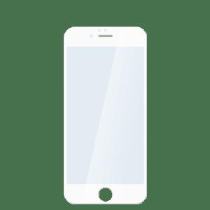 Защитное стекло для iPhone 6/6s белое