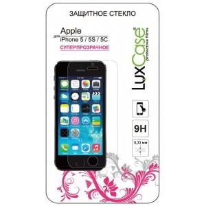 Защитное стекло Luxcase для Apple iPhone SE/5/5C/5S (глянцевое)