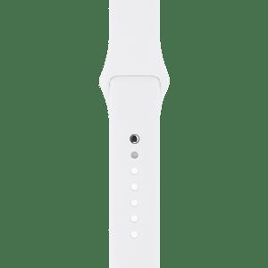 Спортивный ремешок белого цвета 38 мм
