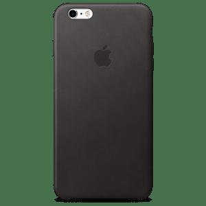 Чёрный кожаный чехол для iPhone 7/7s Plus