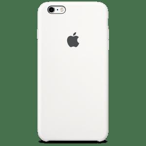 Белый силиконовый чехол для iPhone 6/6s Plus