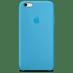 Голубой силиконовый чехол для iPhone 6/6s Plus