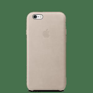 Телесный кожаный чехол для iPhone 7/7s