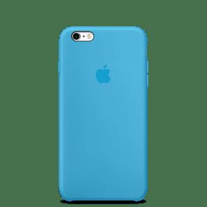 Голубой силиконовый чехол для iPhone 6/6s
