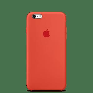 Оранжевый силиконовый чехол для iPhone 6/6s