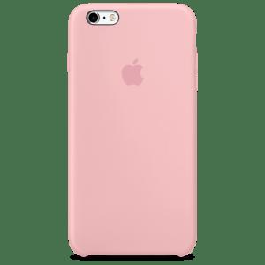 Розовый силиконовый чехол для iPhone 6/6s Plus