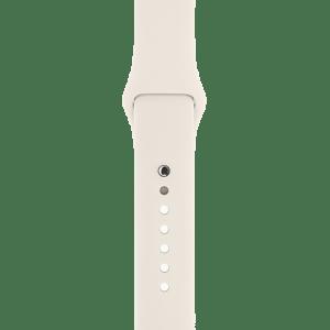 Спортивный ремешок мраморно-белого цвета 38 мм