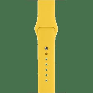 Спортивный ремешок жёлтого цвета 38 мм