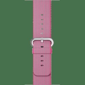 Ремешок из плетёного нейлона розового цвета, 38 мм
