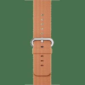 Ремешок из плетёного нейлона цвета «золотистый/красный», 38 мм