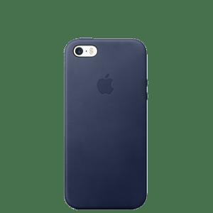 Кожаный чехол для iPhone SE — Синий цвет