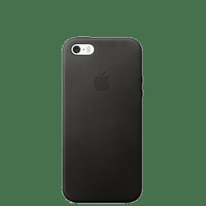 Кожаный чехол для iPhone SE — Чёрный цвет