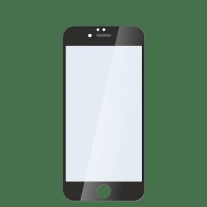 Защитное стекло для iPhone 6/6s черное