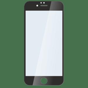 Защитное стекло для iPhone 6/6s Plus черное