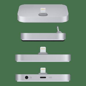 Док-станция для iPhone с разъёмом Lightning – серебристая